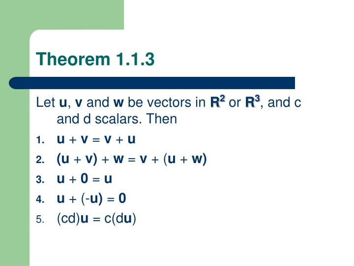 Theorem 1.1.3