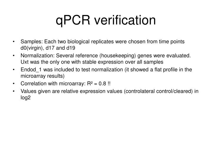 qpcr verification n.
