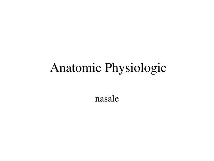 anatomie physiologie n.