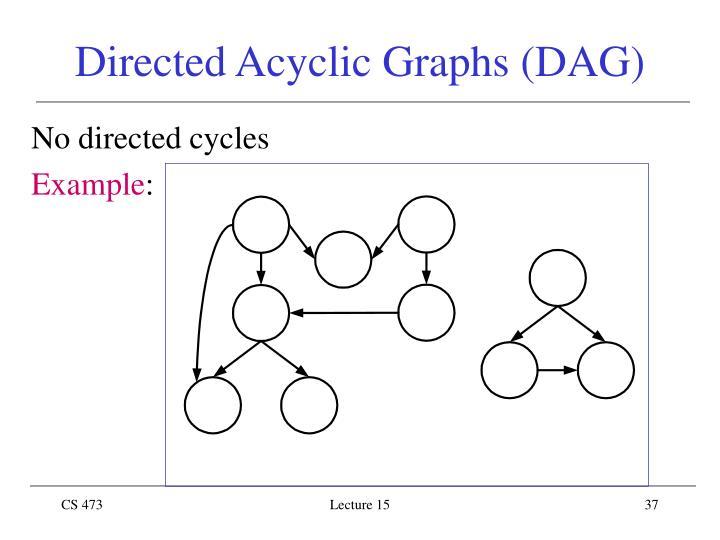 Directed Acyclic Graphs (DAG)
