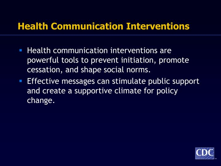 Health Communication Interventions