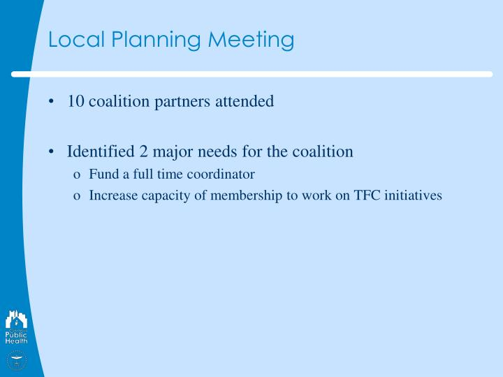 Local Planning Meeting
