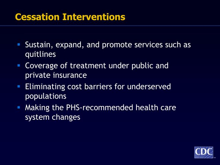 Cessation Interventions