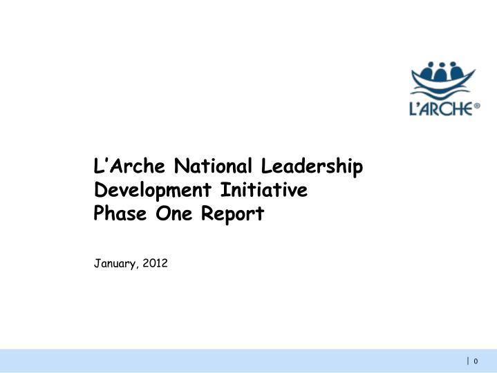 L'Arche National Leadership Development Initiative