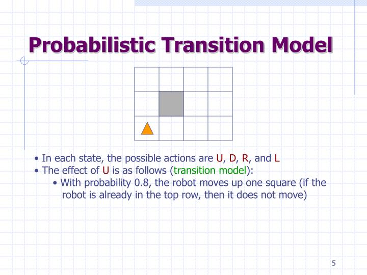 Probabilistic Transition Model