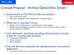 concept proposal archival optical disc system