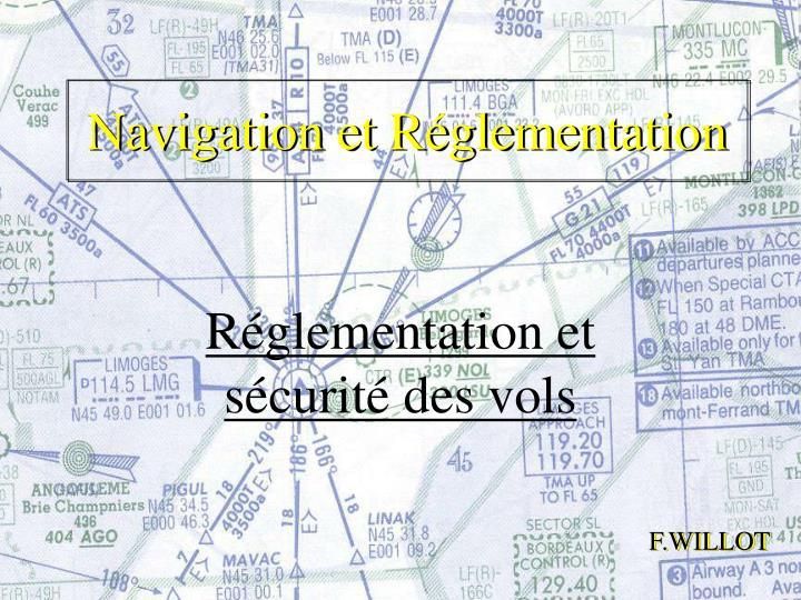Navigation et r glementation
