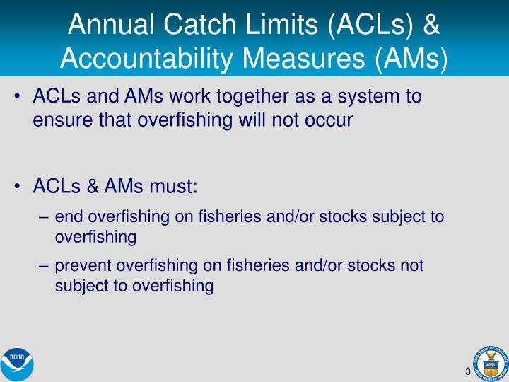 Annual catch limits acls accountability measures ams