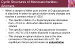 cyclic structures of monosaccharides anomers5