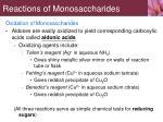 reactions of monosaccharides8