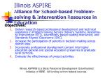 illinois aspire a lliance for s chool based p roblem solving i ntervention r esources in e ducation1