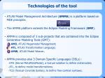 technologies of the tool