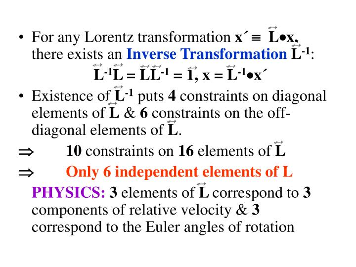 For any Lorentz transformation