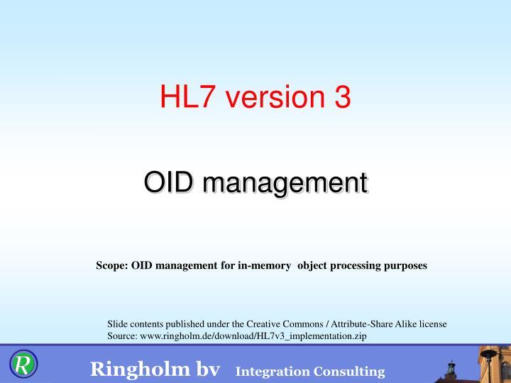 hl7 version 3 n.