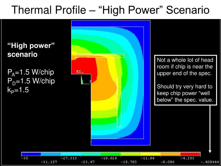"Thermal Profile – ""High Power"" Scenario"