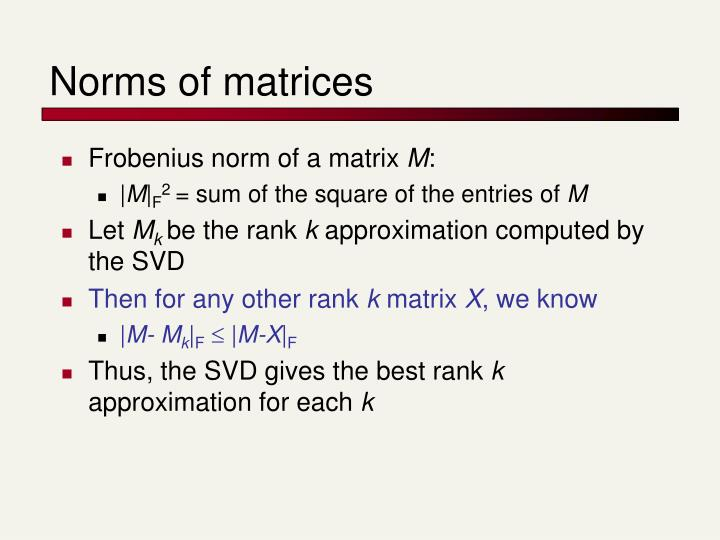 Norms of matrices