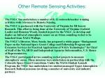 other remote sensing activities