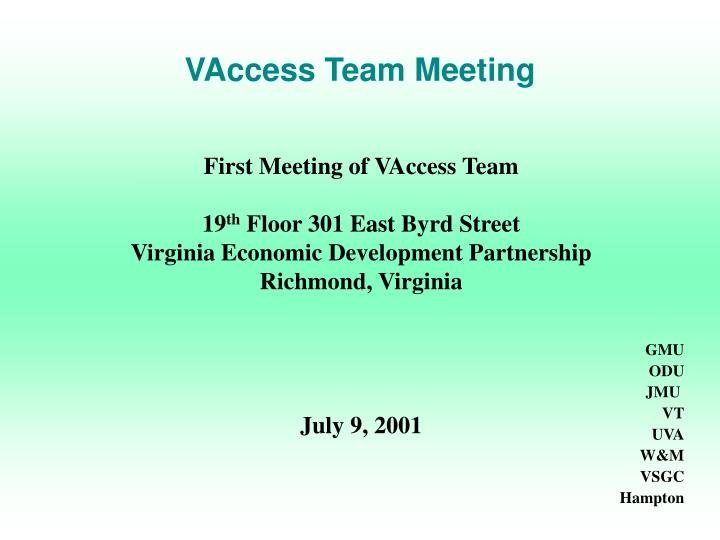 vaccess team meeting n.