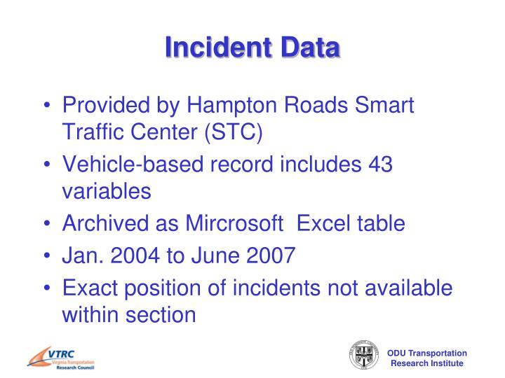 Incident data