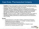case study pharmaceutical company