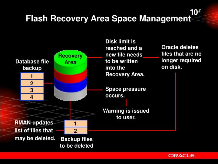 Flash Recovery Area Space Management