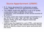 source apportionment unmix