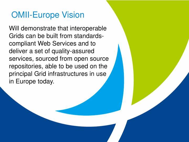 OMII-Europe Vision