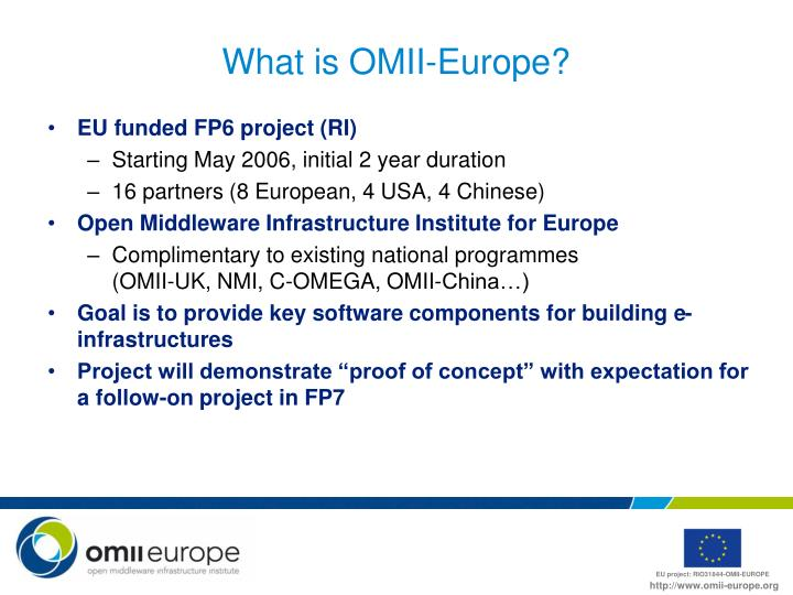 What is omii europe