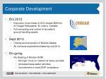 corporate development