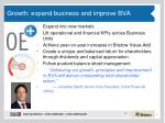 growth expand business and improve bva
