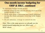 one month income budgeting for ohp hkc continued1
