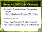 potential ohd l 14 changes
