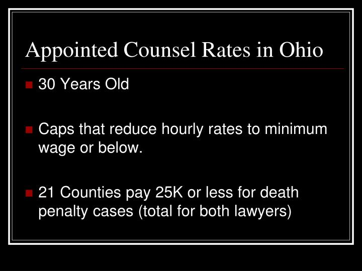 Appointed Counsel Rates in Ohio