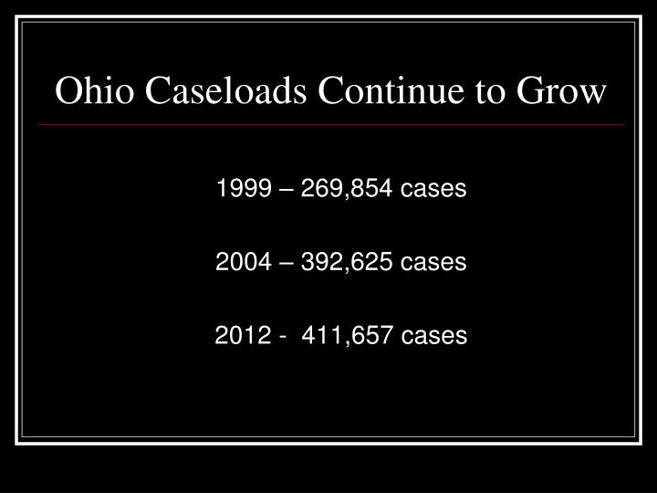 Ohio Caseloads Continue to Grow