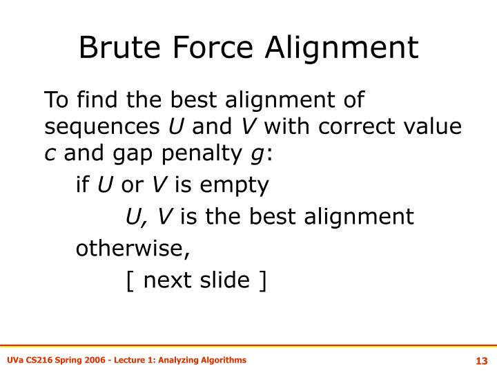 Brute Force Alignment