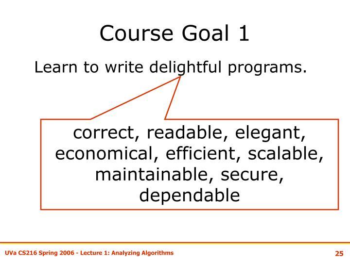 Course Goal 1
