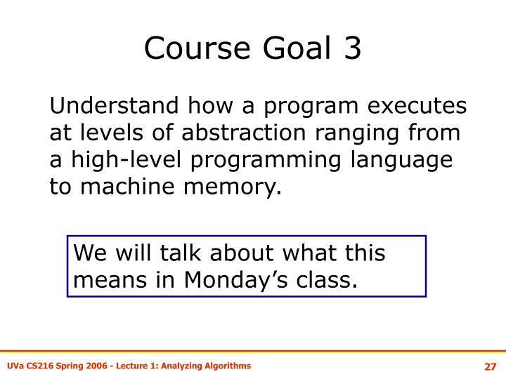 Course Goal 3