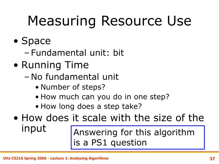 Measuring Resource Use
