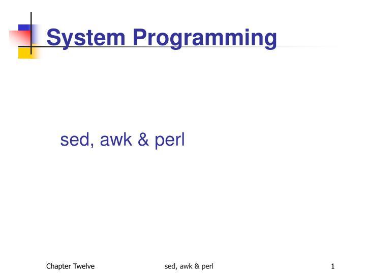 system programming n.