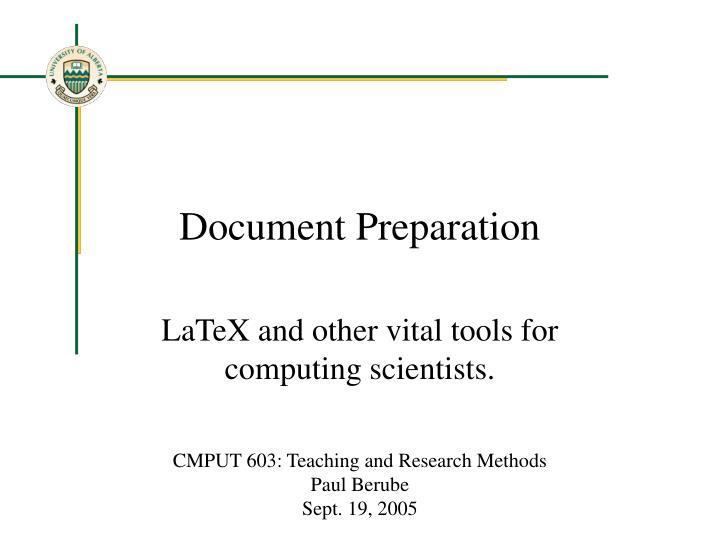 document preparation n.