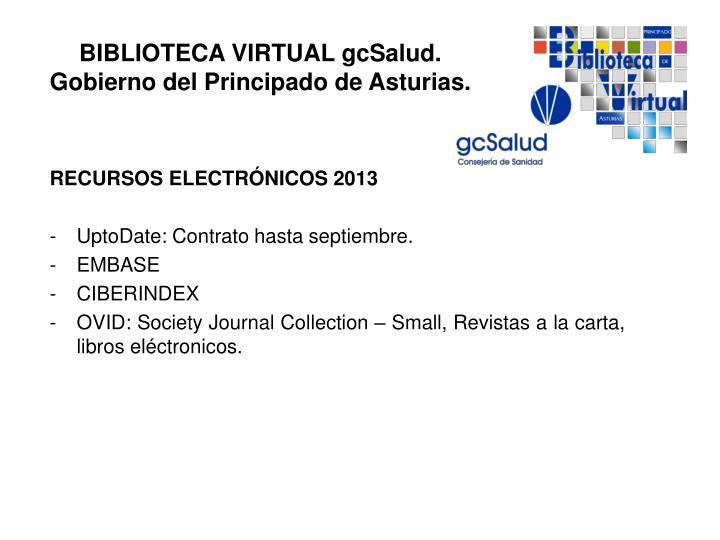 RECURSOS ELECTRÓNICOS 2013