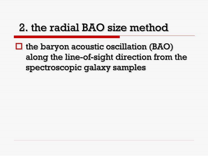 2. the radial BAO size method