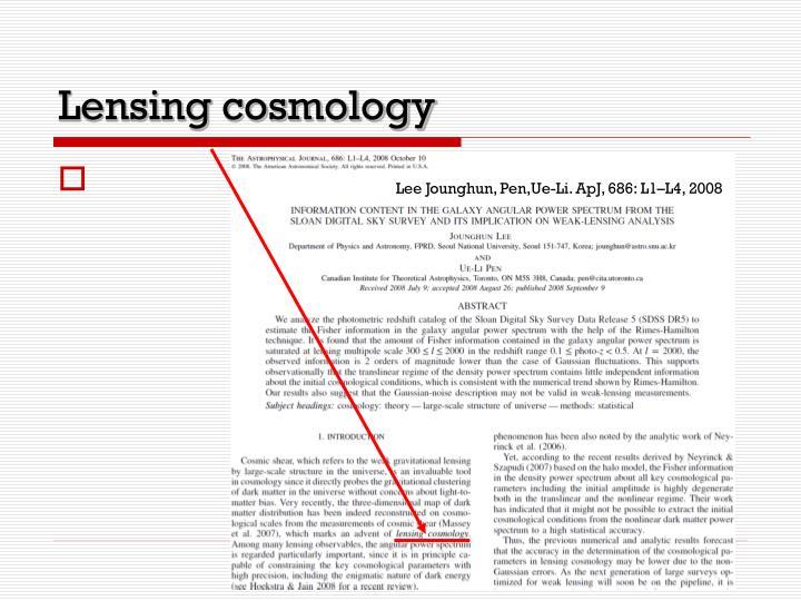 Lensing cosmology