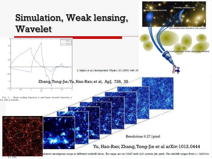 Simulation, Weak lensing,