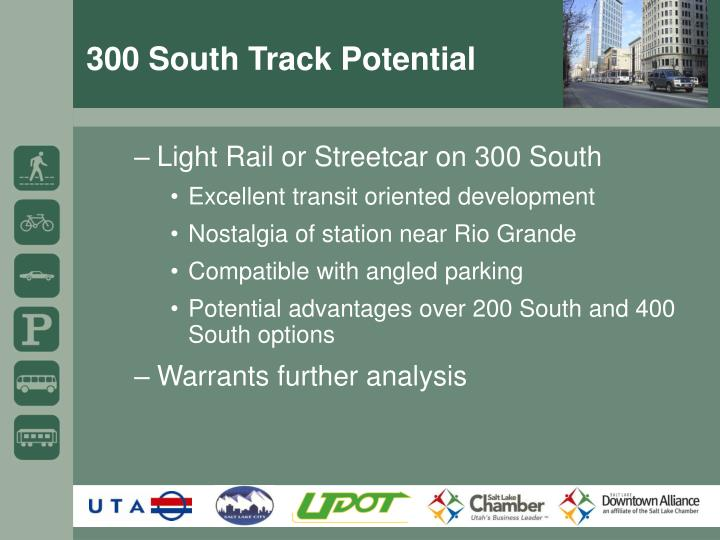 300 South Track Potential