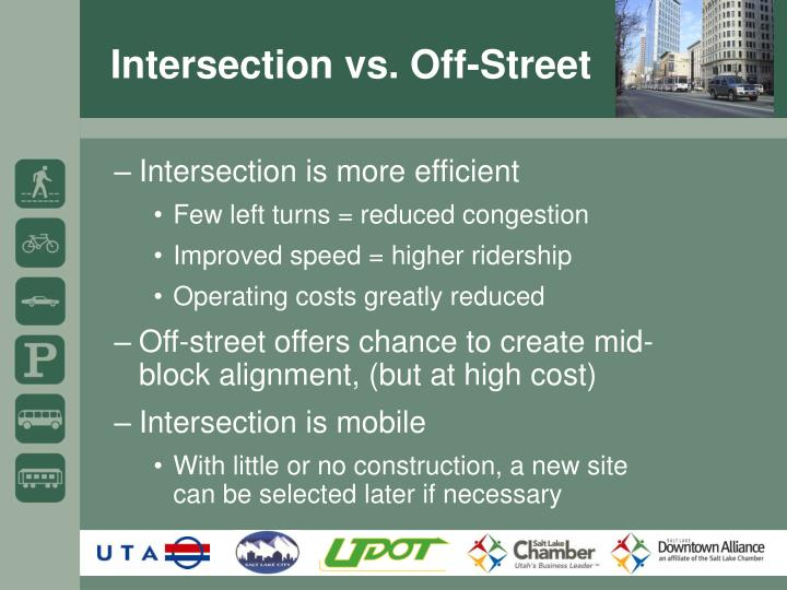 Intersection vs. Off-Street