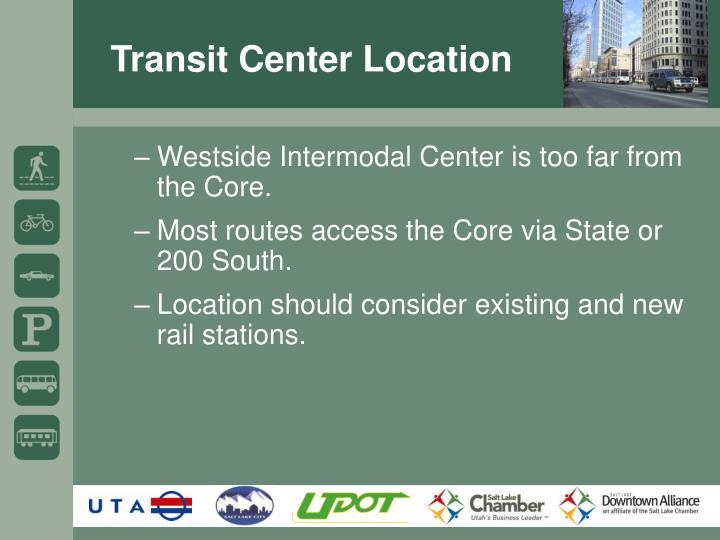 Transit Center Location