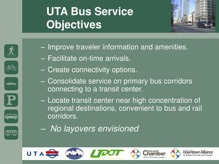 UTA Bus Service Objectives