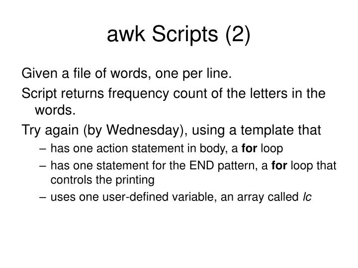 awk Scripts (2)
