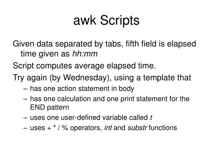 awk Scripts